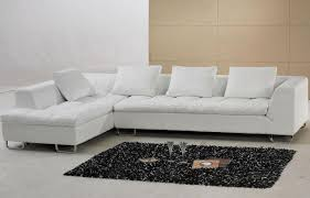 L Shaped Sectional Sleeper Sofa by White Leather Ottoman Along With White Leather Sectional Sleeper