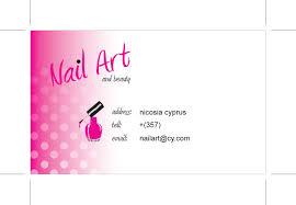 natasha essentials business card design nail art and beauty