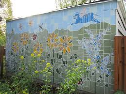 Garden Mural Ideas Outdoor Murals Dress Up Sheds Garages And Blank Walls Plus Seven
