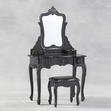 black french shabby chic dressing table mirror and stool set 88 x 45