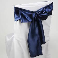navy blue chair sashes wholesale wedding chair sashes colourful chair bows
