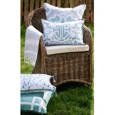 Indoor Outdoor Furniture by Fretwork Border Embroidered Indoor Outdoor Pillow U2014 Tidal Blue