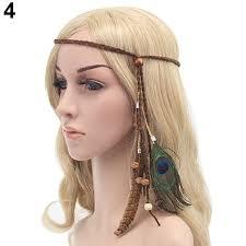 feather headband women boho festival feather headband hippie weave hairband hair