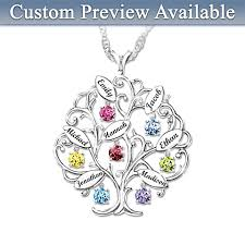 custom birthstone necklaces mothers birthstone necklaces