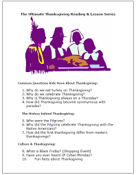 the ultimate thanksgiving reading lesson series sle