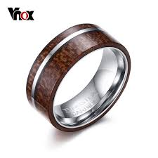 wood engagement rings aliexpress buy vnox s wood engagement ring 8mm tungsten