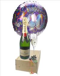 40th birthday delivery 40th birthday gift moet chagne balloon flute price inc