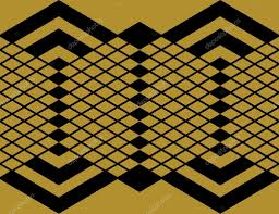 seamless diamond aztec pattern wallpaper background in gold and