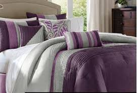 Purple And Gray Comforter Lavender And Grey Bedding Purple And Grey Comforter Sets Pintucked