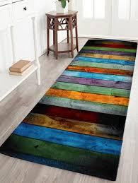 coral velvet colorful stripe large area rug colormix w inch l