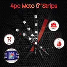 Motorcycle Led Strip Lights by Opt7 4pc Aura Motorcycle Led Light Strip Expansion Set All Color