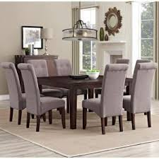 9 dining room sets simpli home cosmopolitan 9 tanners brown dining set axcds9