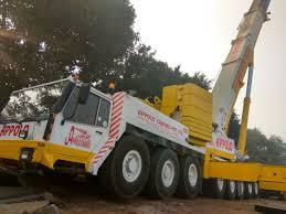 hire telescopic cranes in delhi ncr india appolo cranes