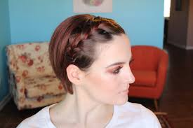 growing hair from pixie style to long style style a growing pixie french braid bangs youtube