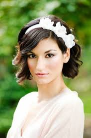 Wedding Hairstyle Ideas For Short Hair by Wedding Hairstyles Short Wedding Hairstyles With Headband And