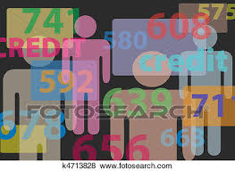 bureau clipart clip of credit bureau report card numbers