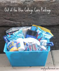 College Care Package Out Of The Blue Diy College Gift Basket Simply Southern Mom
