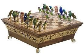 luxury chess set endangered parrots luxury chess set purple pawn
