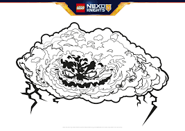 monstrox colouring page activities nexo knights lego com