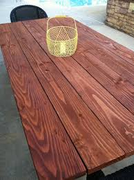 Diy Patio Table Top Pine Tree Home Outdoor Farm Table Finishing The Table Top