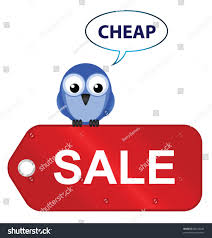 comical sale items going cheap isolated stock vector 88122220