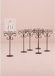 ornamental wire table card holder pack of 6 david s bridal