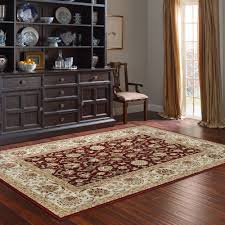 machine woven cambridge burgundy ivory polypropylene rug 5 u00273