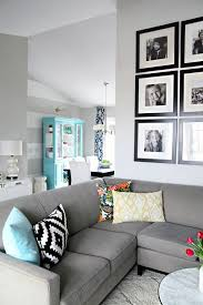 Blue Gray Color Scheme For Living Room Home Interior Design - Gray color living room