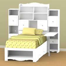 Zayley Bookcase Bedroom Set Twin Bed With Drawers And Bookcase Headboard Spillo Caves