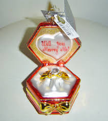 christopher radko diamonds are forever will you me ornament