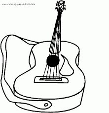 coloring pages for kids guitar coloring pages for kids