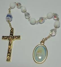 single decade rosary handmade in the usa our of the snows single decade rosary w