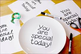you are special today plate celebrate make your own simple you are special plate one