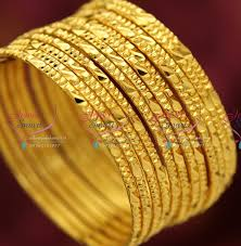 gold set for marriage b3826m 2 6 size gold plated 12 pieces bangles set casual wear