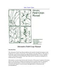 alternative crop field guide weed soil