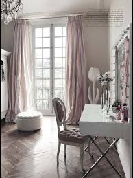 Black And White Bedroom Drapes At Home With Blush Gray Walls And Vanity Room