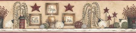 urban country decor faith hope love sampler wall border urban
