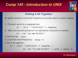 Count No Of Words In Unix Unix Filters Ppt