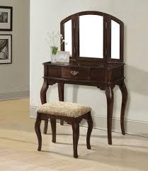 Vanity Tables With Mirror Acme 90091 Maren 3pcs Cherry Drawer Vanity Set With Mirror Stool