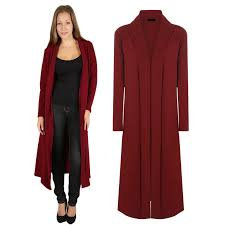 womens open front maxifloaty long sleeve cardigan casual jacket