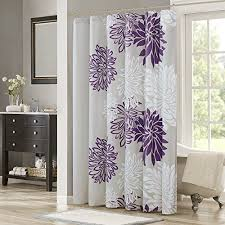 Grey And Purple Curtains Comfort Spaces Enya Shower Curtain Purple Grey