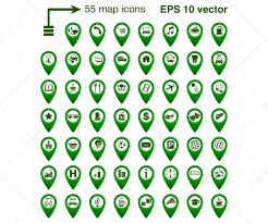 map vector vector icon set when you need indicate the place on the map