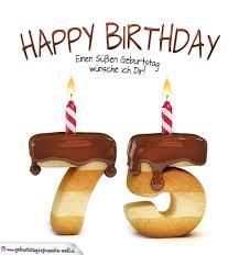 geburtstagssprüche zum 75 geburtstag happy birthday in keksschrift zum 75 geburtstag