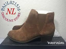 womens boots in s sizes kensie s garry bootie ankle boots suede brown