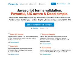 parsley pattern js best jquery plugins for form functionality and validation code geekz