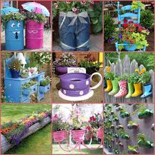 Idea For Garden 40 Creative Diy Garden Containers And Planters From Recycled