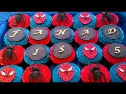 how to make spiderman cupcakes youtube