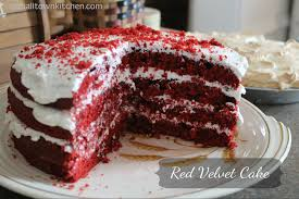 old fashion red velvet cake a small town kitchen