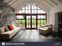 minimal room with french doors stock photo royalty free image