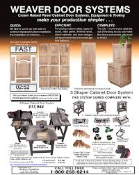 Precision Cabinet Doors by 3 Shaper Cabinet Door System Weaver Manufacturing Online Store